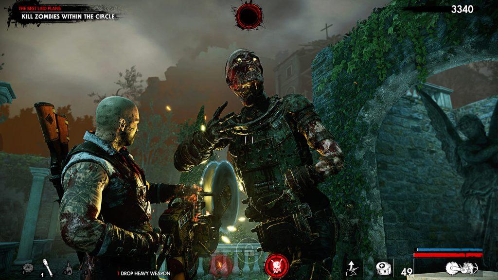Zombie Army 4 Kreissäge